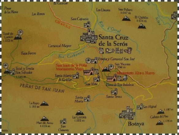 Map of Sant Cruz de la Serós