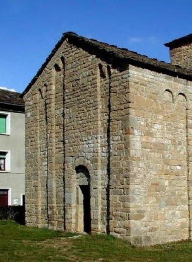 Entrance of Iglesia de San Caprasio, Sant Cruz de la Serós.