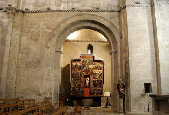 The interior of Santa Maria de la Serós