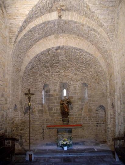 Main Alter of Iglesia de San Caprasio, Sant Cruz de la Serós.