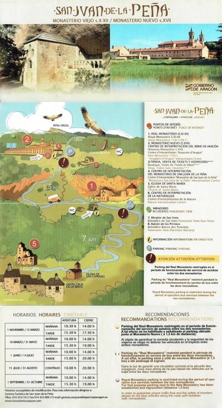 Brochure of San Juan de la Peña