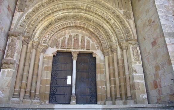 Façade of the Monasterio de San Salvador de Leyre