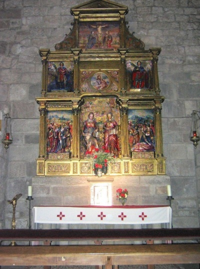 Monasterio de Leyre, the altarpiece of santas Nunilo and Alodia.