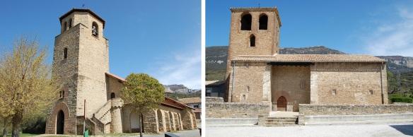 San Esteban (Church of St. Esteban) and Iglesia vieja San Esteban (Old Church of St. Esteban) in Yesa Village.