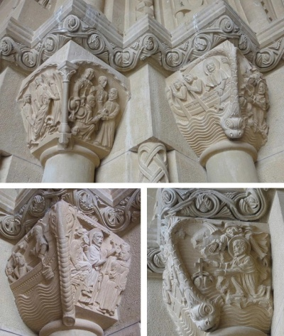 Column Capitals which expressed St. Francisco Javier's missionary work in Asia.