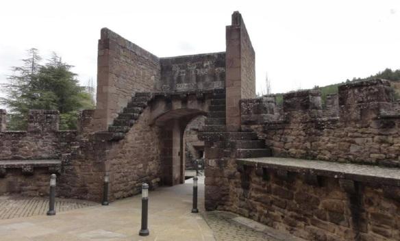 Inside the castle gate.
