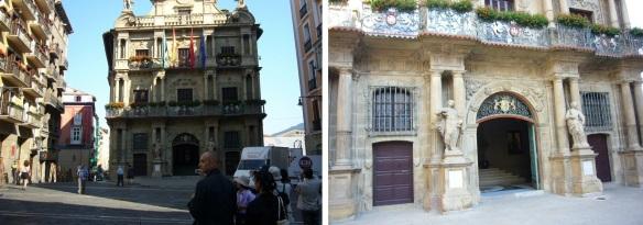 Ayunta-miento (City Council) and its façade.