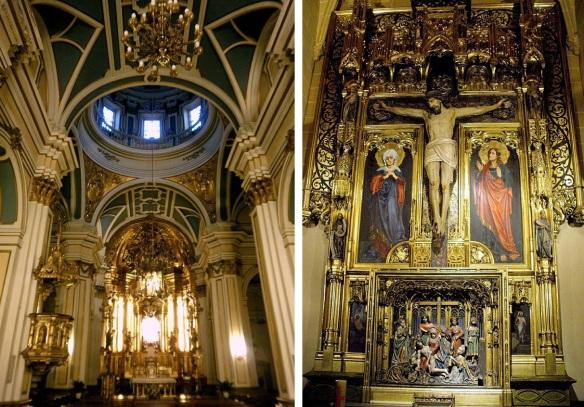 Main altar and Chapel of the Holy Cross,  San Saturnino (San Cernin)