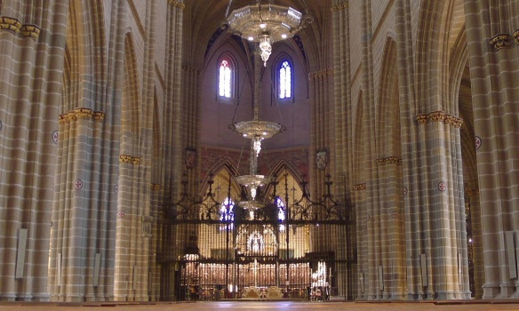 The high altar of the cathedral, Pamplona.