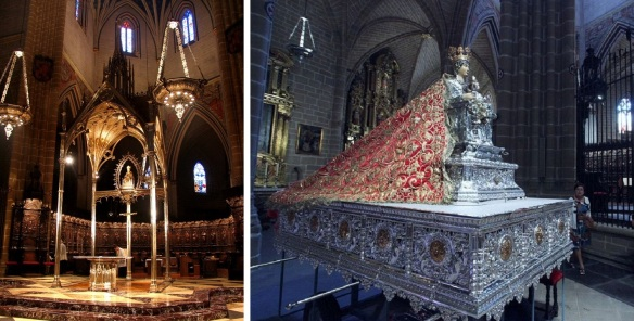 The old altar and the image of Santa Maria, Pamplona Cathedral.
