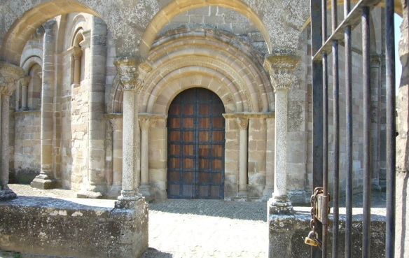 The gate and the façade of the church.