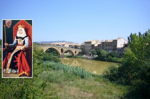 Doña Urraca of Zamora (Doña Mayor) and her town and bridge.