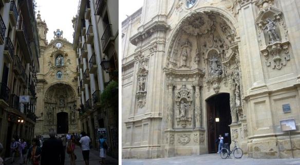 The Basilica of Saint Mary and its main entrance.