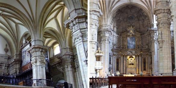 Interior of the Church of Saint Mary in San Sebastián