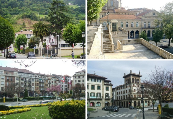 Views of the town of Guernica.