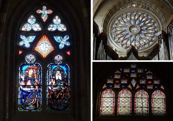 Beautiful stained glasses of the church.