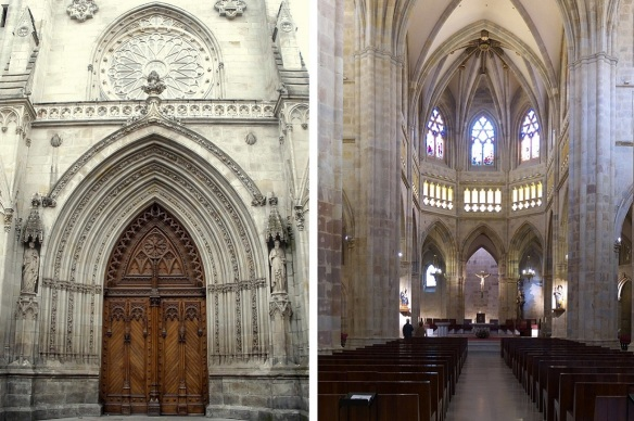 The main portal and the high alter of the cathedral.