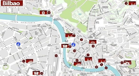 Bilbao Old Town Map