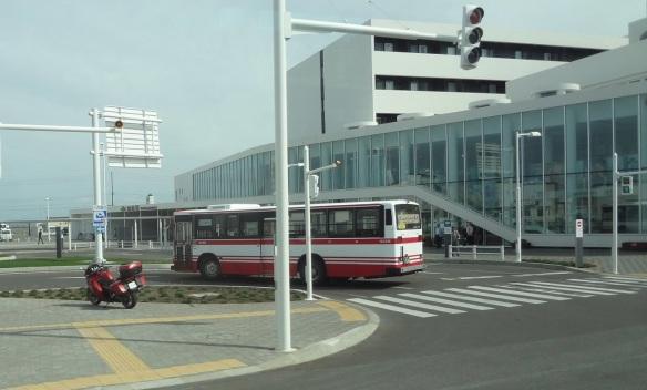 Wakkanai railway station and bus terminal.