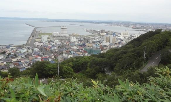 View of Wakkanai City, from the Park.