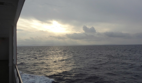 Scenery of the Sea of Japan, from the ferry.