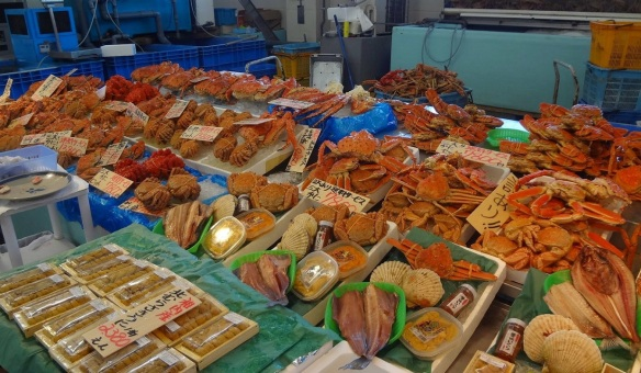 They are dealing with fresh seafood, various crabs, scallops, sea urchins, atka mackerel and etc.