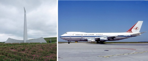 Tower of the Prayer and Accident aircraft, Korean Air Line's Boeing 747-230 that was shot down.