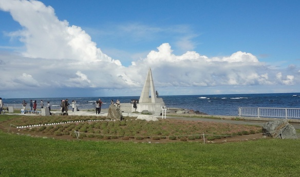 Soya Cape Park, the northernmost monument.