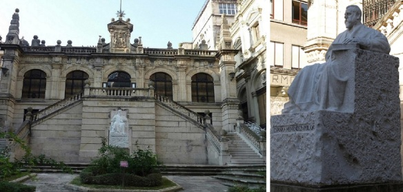Municipal Museum of Fine Arts and Library, and Former Resident Menéndez Pelayo.