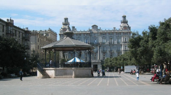 Landscape of Santander; Plaza de Pombo en Santander (The Plaza de Pombo in Santander)