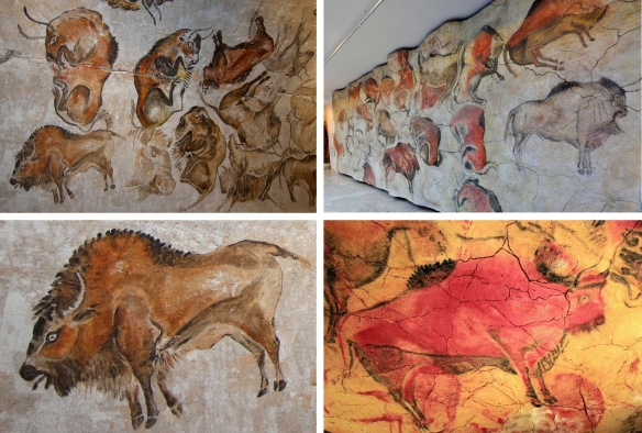 Displays of exhibition room of the Altamira cave museum.