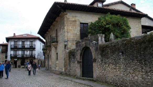 Santo Domingo Street that lead to the town center of Santillana del Mar.