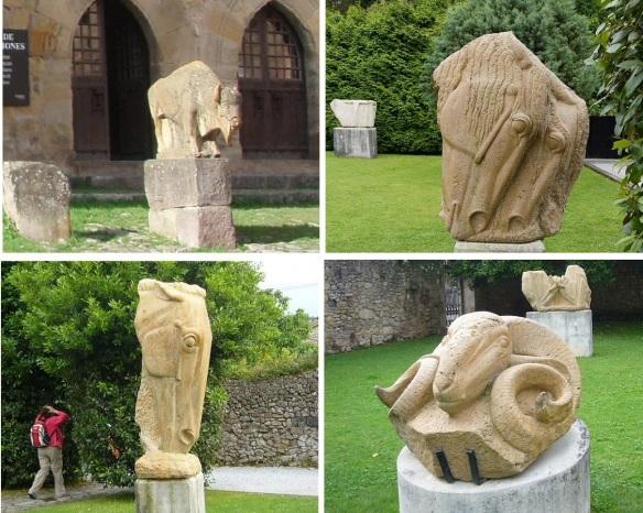 Sculptures in the garden of Jesús Otero Museum.