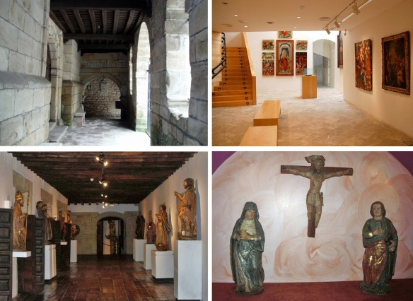 The cloister, exhibition hall and exhibit of the Diocesan Museum.