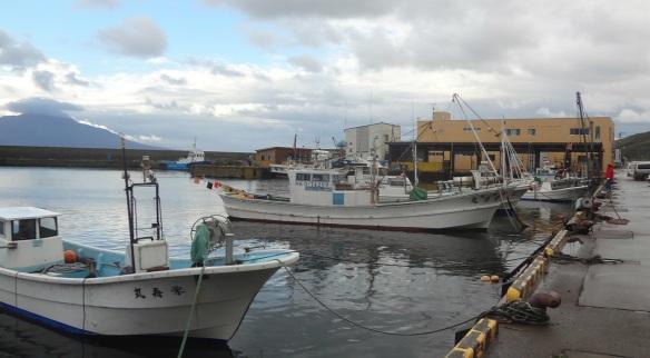 Scenery of Kafukai fishing port, Rebun Island.