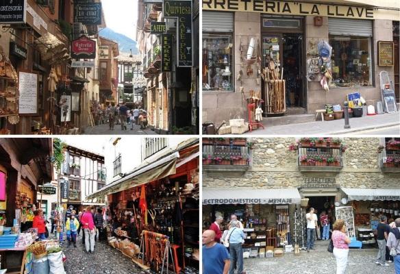 Tourist street (souvenir shops) in Potes