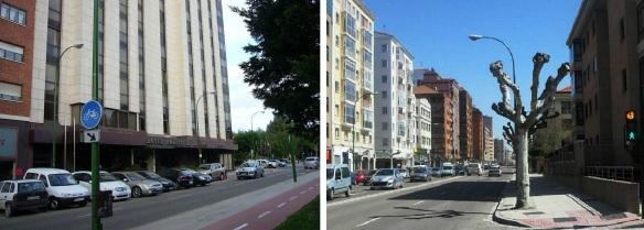 Hotel Puerta de Burgos and the Vitoria Street.