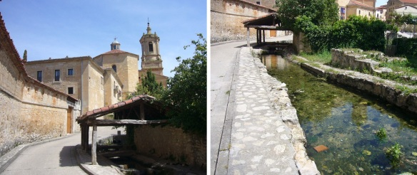 Walked along this creen water to the Abbey of Santo Domingo de Silos.
