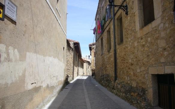Narrow street of Santo Domingo de Silos