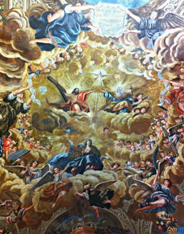 Ceiling painting, the Chapel of the Virgin of Miraflores