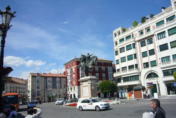 Statue of El Cid on the Plaza del Mio Cid
