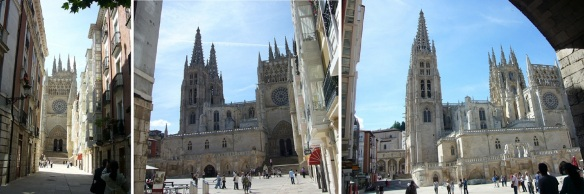 Approaching Burgos Cathedral