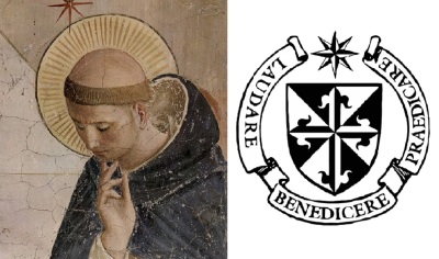 Saint Dominic and the Shield of the Dominican Order