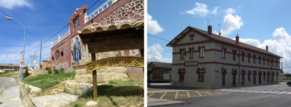 Posada Viatoris (pilgrimage inn) and  railway station Sahagun