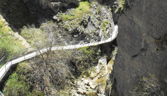 Footbridge of the Yecla Gorge