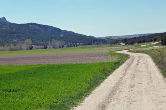 Scenery on the way to the village of Hinojar de Cervera.