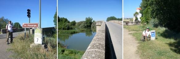 Rio Pisuerga and Puente de Fitero
