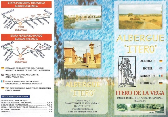 Brochure of Albergue Itero