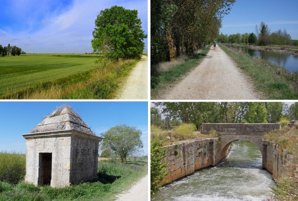Scenery from the village of Boadilla del Camino to the town of Fromista.