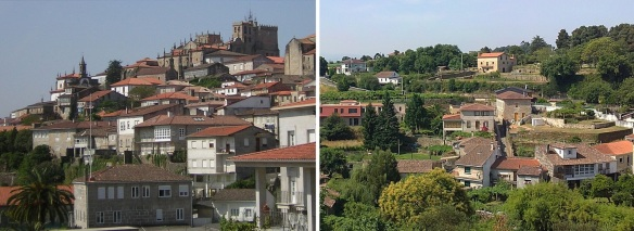 The landscape of Tuy Town in Galicia, it has a population of 17,262 inhabitants